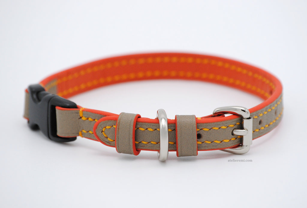 No. P02G | 10MM Cat Collar (Goatskin Lined Interior)