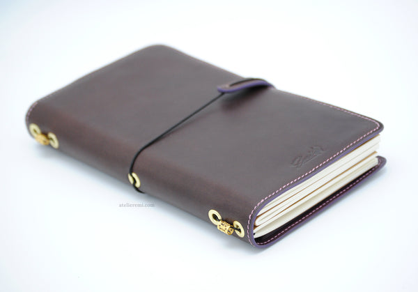 No. S01C | Refillable Traveler's Journal (Cowhide Lined Interior)
