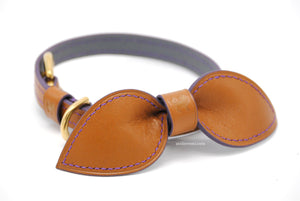 No. P05G - 13MM Dapper Dog Collar V2 (Goatskin Lined Interior)