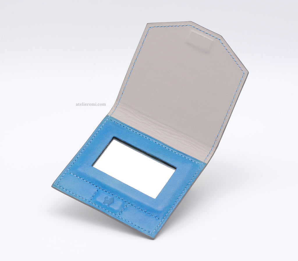 No. A01G | Compact Mirror (Goatskin Lined Interior)