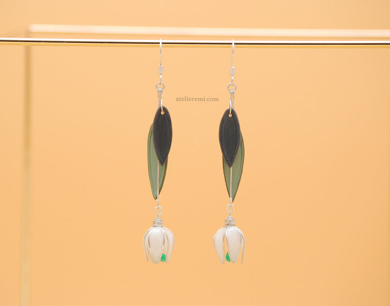 No. J03A | Snowdrop Earrings (Argentium® Silver)