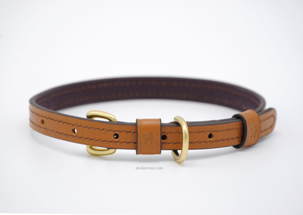 No. P04C - 13MM Dapper Dog Collar (Cowhide Lined Interior)