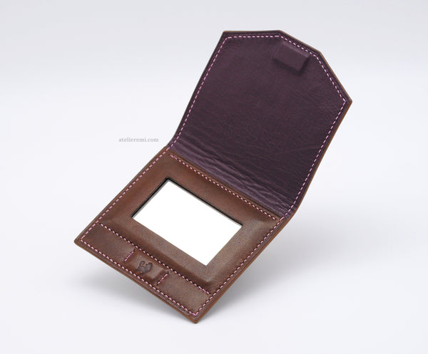 No. A01C | Compact Mirror (Cowhide Lined Interior)