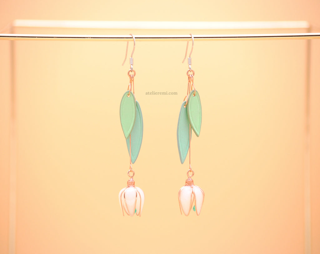 No. J03C | Snowdrop Earrings (Copper)