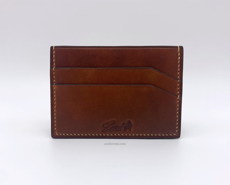 No. W08G | Slim Card Holder (Goatskin Lined Interior)
