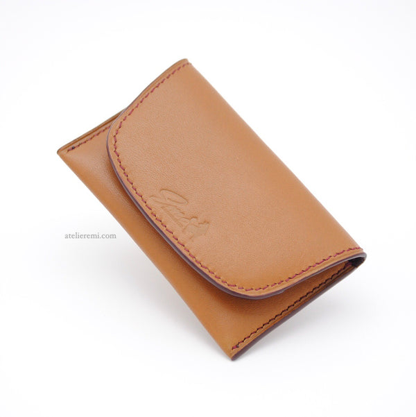No. W04C | Minimalist Card Holder (Cowhide Lined Interior)