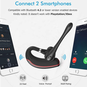 Bluetooth Earphones & Headphones - Bluetooth Headset, HandsFree Wireless Earpiece V4.1 With Mic For Business/Office/Driving