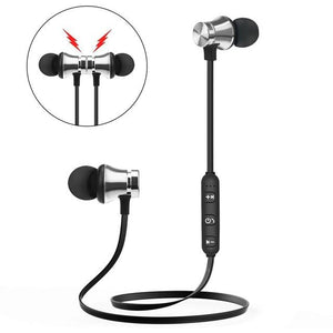 Earphones & Headphones - Metal Sports Bluetooth Headphone Sweat Proof Earphone Magnetic Earpiece Stereo Wireless Headset For Mobile Phone For Iphone