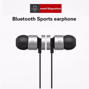Earphones & Headphones - Metal Sports  Earphone Bluetooth Headphone Sweat Proof Magnetic Earpiece Stereo Wireless Headset For Mobile Phone For Iphone
