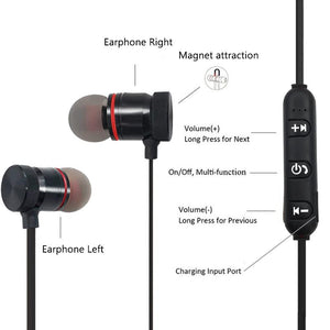 Earphones & Headphones - Metal Sports Wireless Headphones Bluetooth Earphone Sweat Proof Earphone Magnetic Earpiece Stereo Headset For Mobile Phone