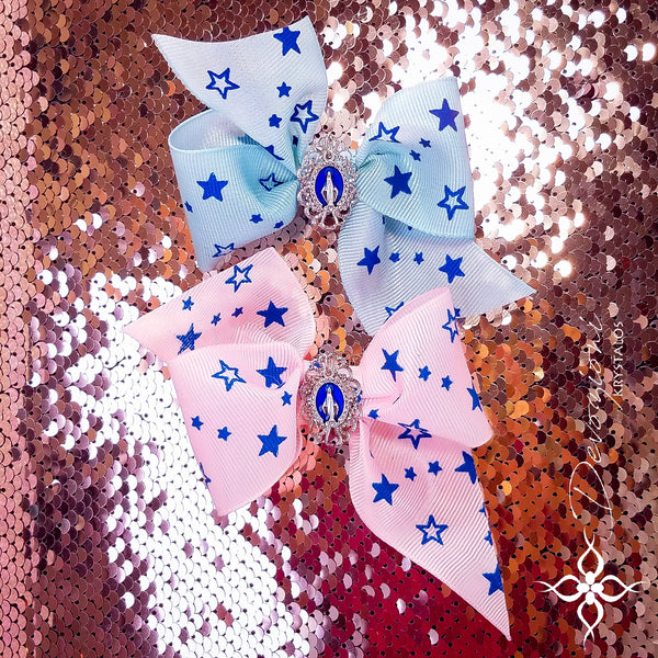 Virgin Mary Queen of Heaven Bow for Girls - Floreli + Devozioni