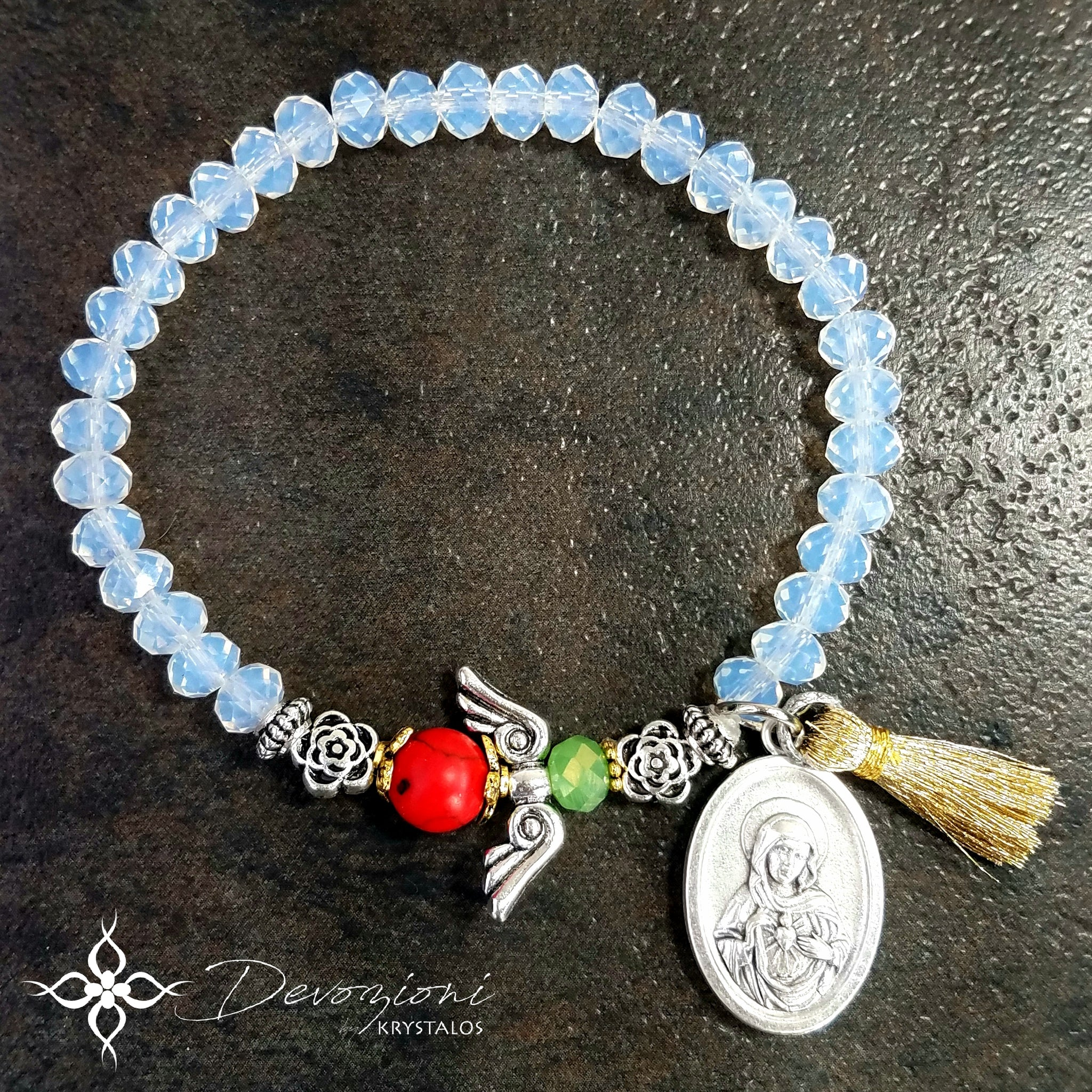 The Virgin of Fatima and the Angel of Portugal - Komboskini Bracelet