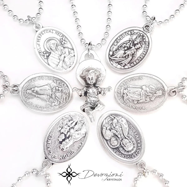 Jesus, Mary and the Holy Spirit - DEVOZIONI Simple Medal Necklace