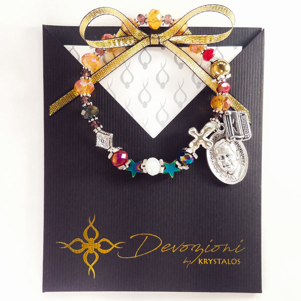 "Blessed Carlos Manuel Rodríguez ""We live for that Night"" - DEVOZIONI Rosary Bracelet"