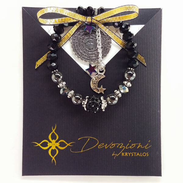 Our Father Nighttime Prayer (Black) - DEVOZIONI Bracelet