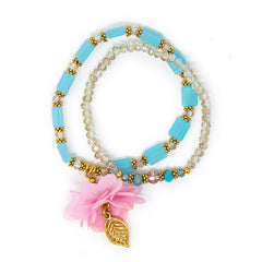 Flower Angel Bracelet (Blue / Pink)