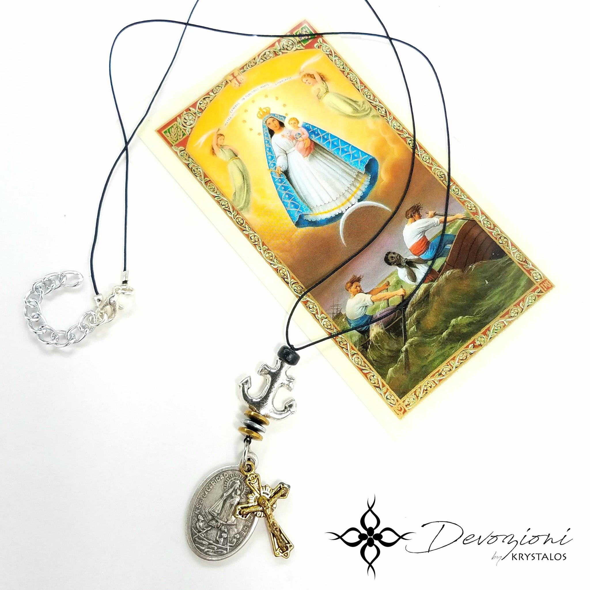 "Virgin of Charity of El Cobre ""Cachita"" - DEVOZIONI Men's Medal Necklace"