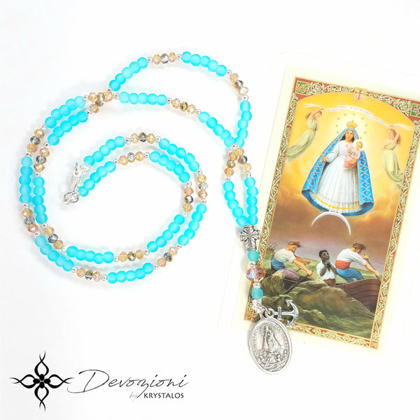 "Virgin of Charity of El Cobre ""Cachita"" - DEVOZIONI Crystal Medal Necklace"