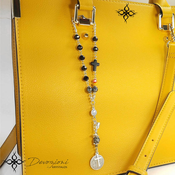 Cross of Saint Benedict - Historical Decennary for Cars, Handbags, etc.