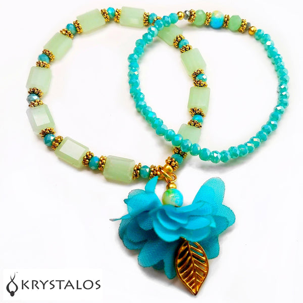Flower Angel Bracelets (Green & Aqua)