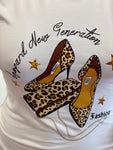 Leopard Generation Graphic T Shirt (REG & CURVY) - White