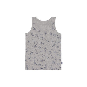 Gray Space Tank Top