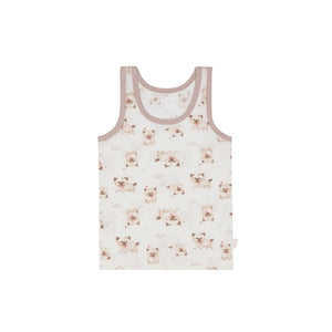 Toddler Puppy Print Tank Top