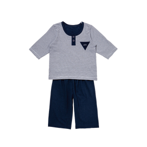 Navy Stripe Short Playwear