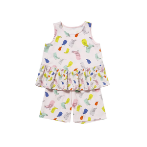 Colorful Bird Sleeveless Playwear