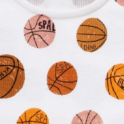 Milk Basketball Pattern Tank Top