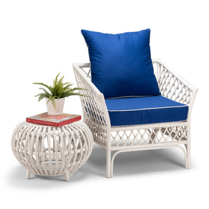 Mendocino Armchair Pacific Blue Fabric