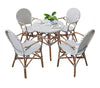 Eiffel Bistro Dining Table - Grey and White Decor