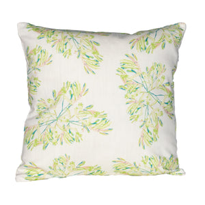Botanical Green 45cm 100% British Linen Cushion Cover