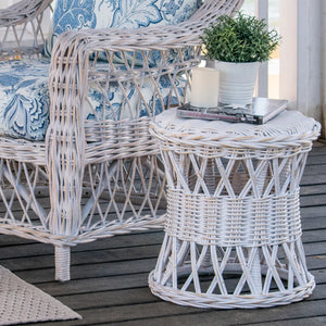 Napa Side Table/Stool Distressed White