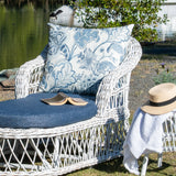 Napa Daybed/Lounger White Distressed Blue Floral Cushion (PRE ORDER)