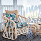 Malibu Armchair Natural With Pineapple Cushion
