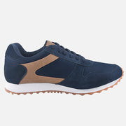 TIESTRA Men's Sport Running Shoes Navy Fashion Breathable Trainers Athletic Fitness Tennis Shoes