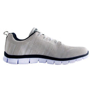 Knixmax Men's Trainers, White, Lightweight, Running Gym Fitness Sports Walking Shoes