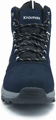 Knixmax Men's High Rise Hiking Boots, Navy, Mountain Climbing Ankle Boots