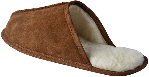 riemot Comfy Furry House Slippers for Men, Brown