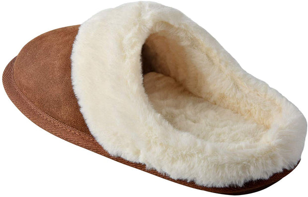 riemot Comfy Furry House Slippers for Women, Brown