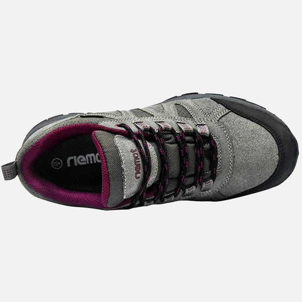 Riemot Women's Grey Wine Lightweight Running Trainers