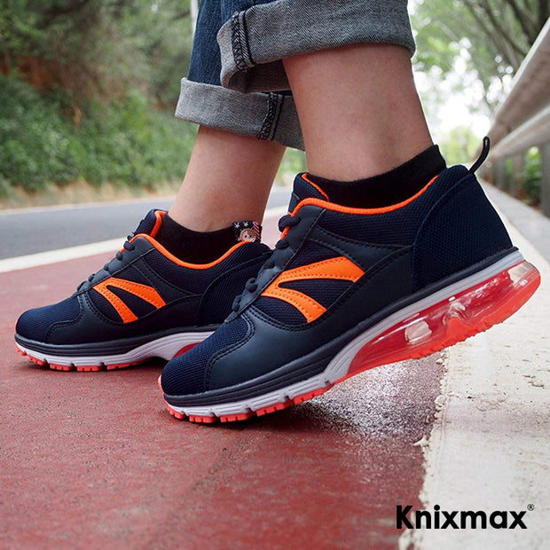 Knixmax Women's Running Trainers, Navy, Lightweight Gym Fitness Air Sports Shoes