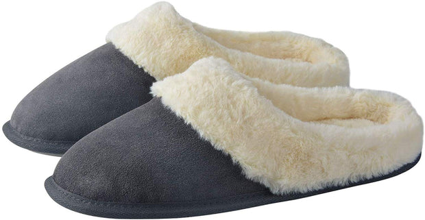 riemot Comfy Furry House Slippers for Women, Grey