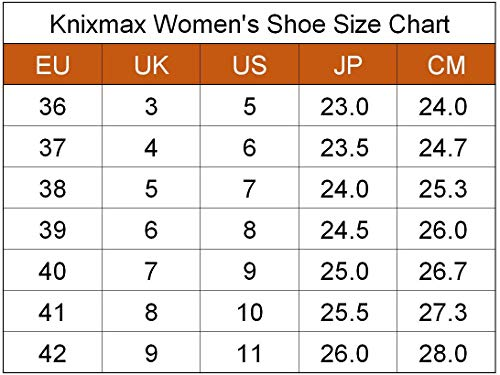 Knixmax Women's Running Trainers, Black, Lightweight Gym Fitness Air Sports Shoes