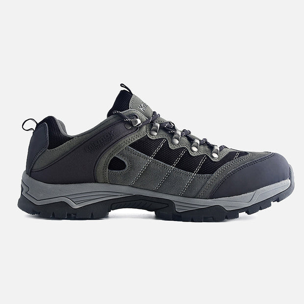 Knixmax Men's Trekking Hiking Shoes, Grey, Low Rise Waterproof Walking Shoes, Outdoor Sport Trainers