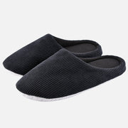 Knixmax Women's Slippers Memory Foam Black Winter Slippers for Indoor Travel Hotel
