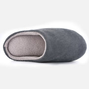 Knixmax Men's Slippers Memory Foam Grey Winter Slippers for Indoor Travel Hotel