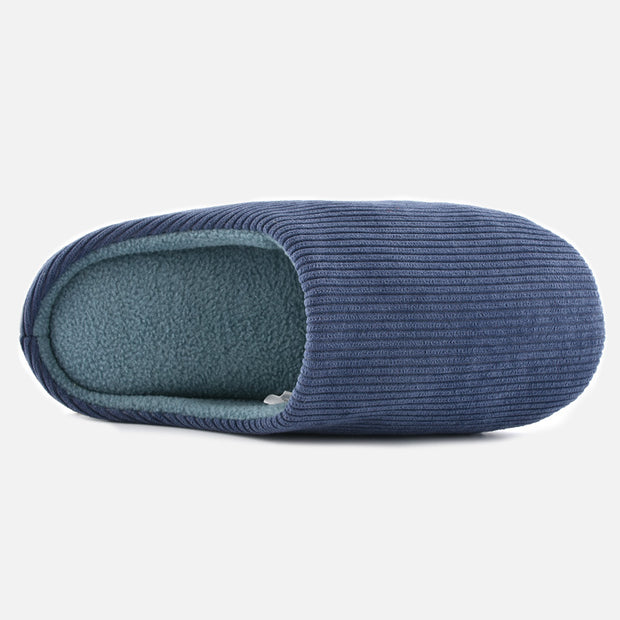 Knixmax Men's Slippers Memory Foam Navy Winter Slippers for Indoor Travel Hotel
