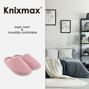 Knixmax Women's Slippers Memory Foam Pink Winter Slippers for Indoor Travel Hotel